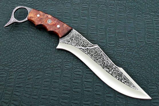 Engraved Antique Knives